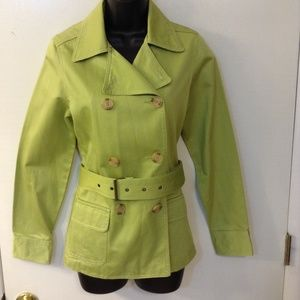 LIME GREEN OLD NAVY DOUBLE BREASTEDJACKET SZ SMALL